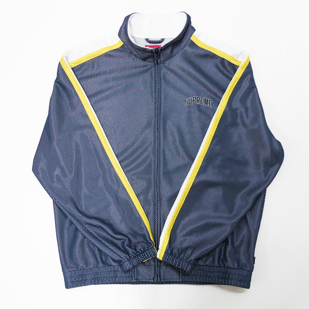 Supreme(シュプリーム) bonded mesh track jacket カラー:ネイビー サイズ:L【中古】【ストリート】【鈴鹿 併売品】【126-180511-01AS】