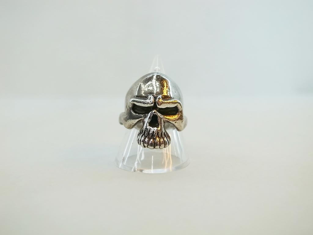 THIRTEEN DEZIGNS (サーティーンデザインズ) Middle Mad Skull Ring KR-19 スカル 【中古】【ブランドアクセ】【鈴鹿 併売品】【1440085IS】