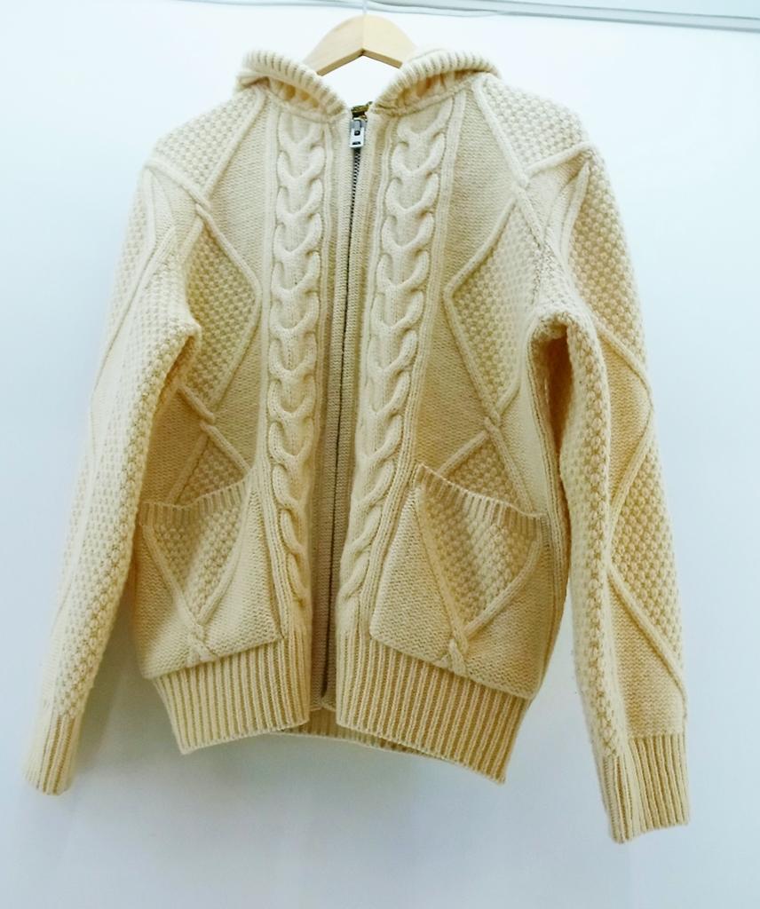 COOTIE (クーティー) Fishermans Zip Sweater フィッシャーマンズ ジッパー セーター ニットサイズ:S カラー:アイボリー【中古】【ルード】【鈴鹿 併売品】【1274767OS】
