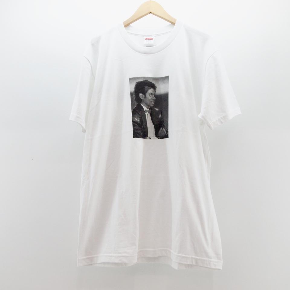 Supreme×Michael Jackson (シュプリーム×マイケルジャクソン) Michael Jackson Tee サイズ:L カラー:ホワイト【中古】【ストリート】【鈴鹿 併売品】【126-170609-01OS】