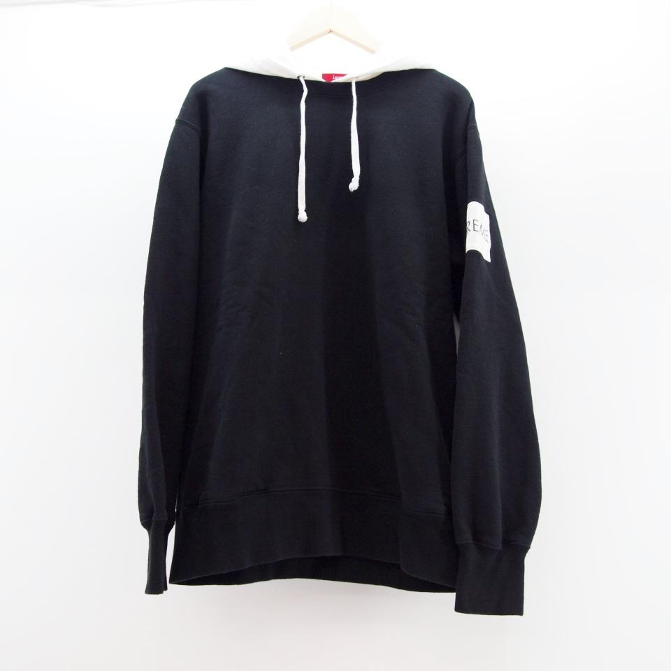 Supreme (シュプリーム) 2-Tone Hooded Crewneck Sweatshirt サイズ:L カラー:ホワイト・ブラック【中古】【ストリート】【鈴鹿 併売品】【126-170609-07OS】