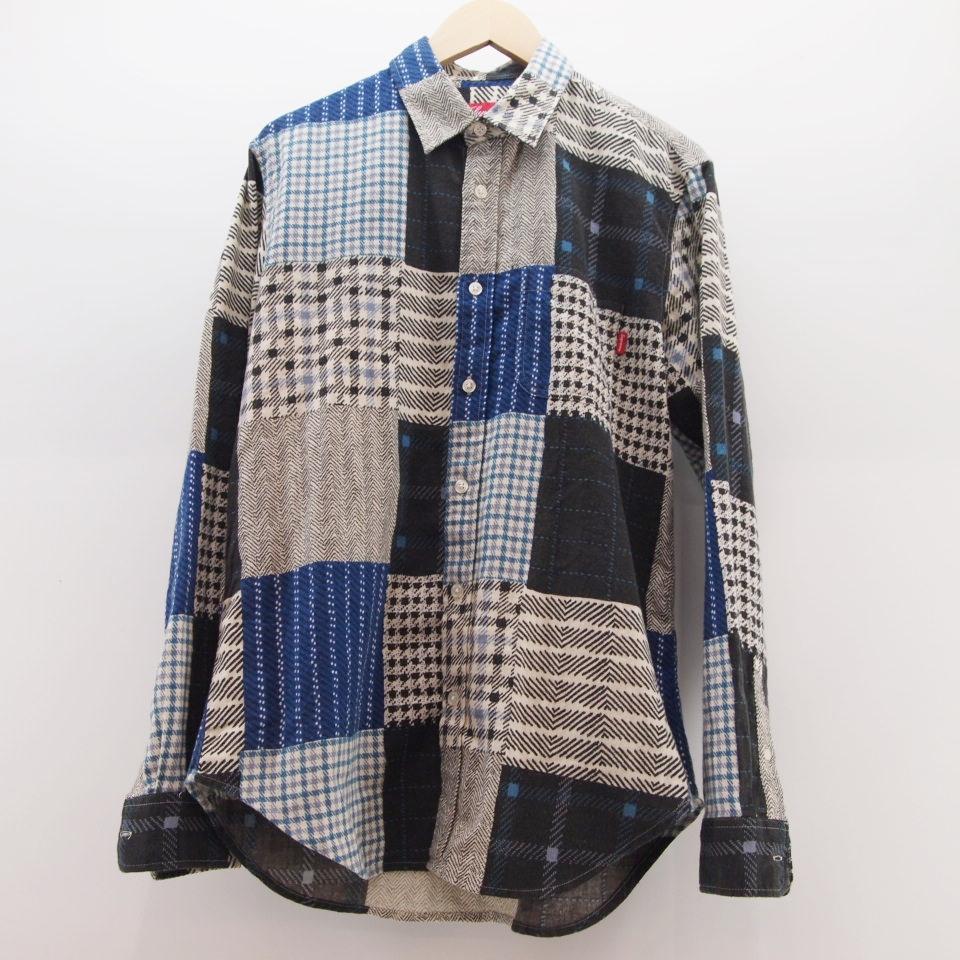 Supreme (シュプリーム) Printed Patchwork Flannel Shirt サイズ:S カラー:ブルー【中古】【ストリート】【鈴鹿 併売品】【126-171016-04OS】