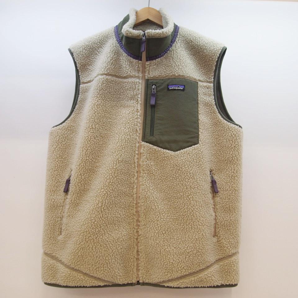 patagonia(パタゴニア) Classic Retro-X Vest クラシックレトロ X ベスト サイズ:XLカラー:ベージュ【中古】【129 アウトドア】【鈴鹿 併売品】【129-190227-02OS】