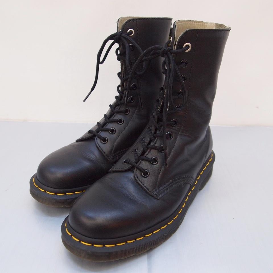 Dr.Martens×Y's(ドクターマーチン×ワイズ) バックジップブーツ カラー:ブラック【中古】【140 その他靴】【鈴鹿 併売品】【140-190328-03OS】