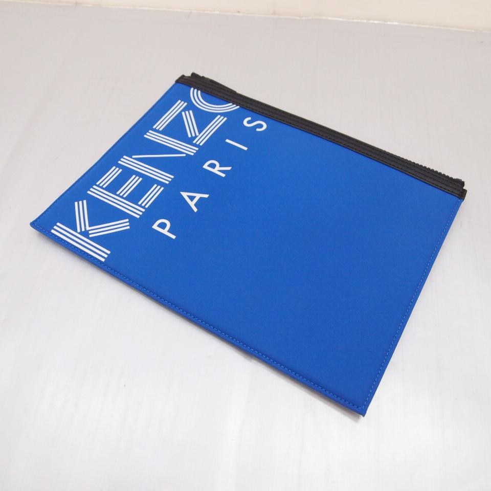 KENZO PARIS(ケンゾー) クラッチバッグ カラー:ブルー【中古】【137 カバン】【鈴鹿 併売品】【137-190514-05OS】
