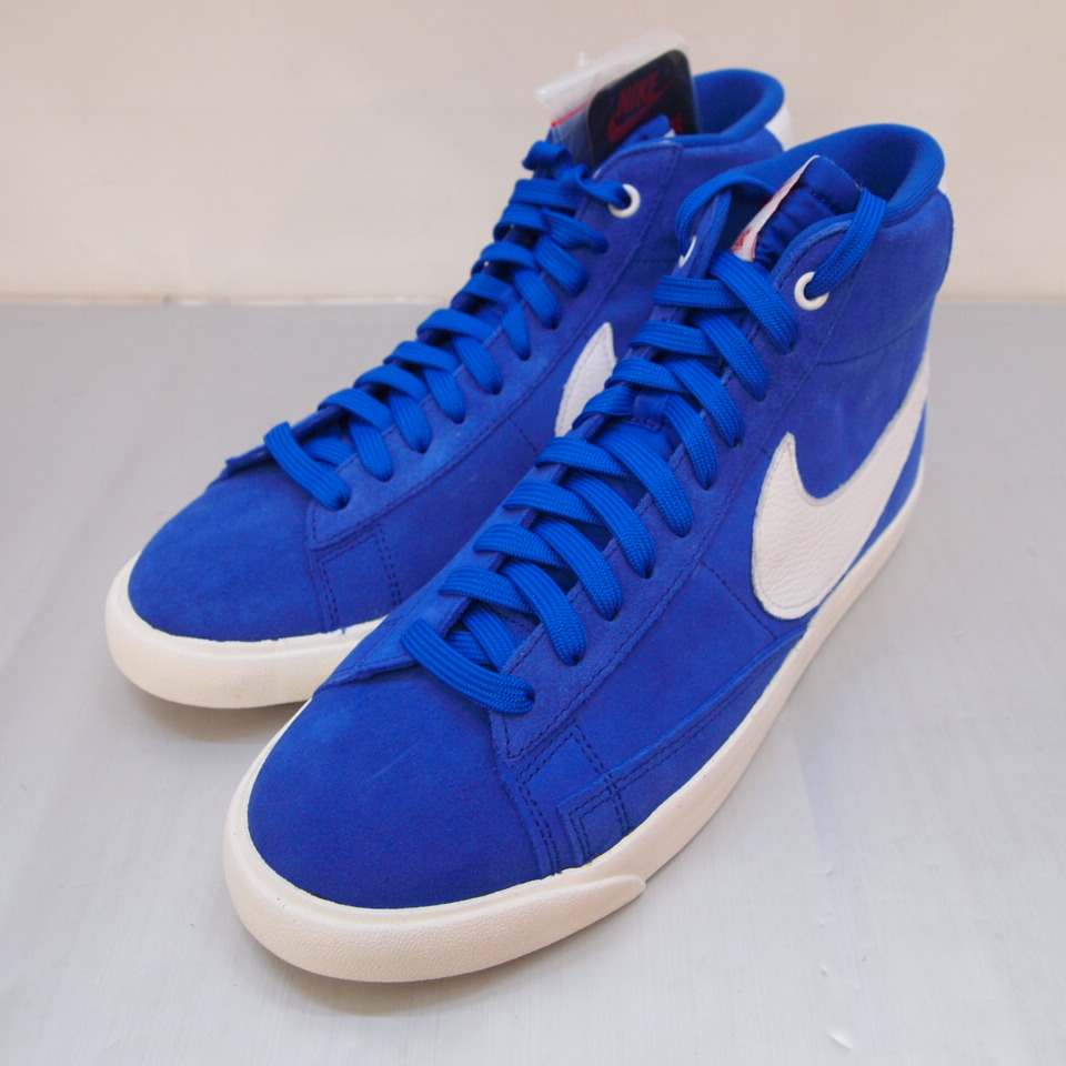 NIKE X STRANGER THINGS (Nike X alien things) BLAZER MID QS ST blazer mid sneakers CK1906 400 size: 9 (27cm) colors: Blue