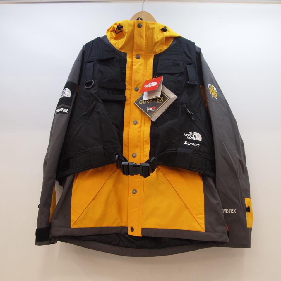 Supreme×THE NORTH FACE (シュプリーム×ノースフェイス) RTG Jacket + Vest SG GOLD NP61903I ジャケット ベスト サミットゴールド サイズ:M カラー:ブラック・イエロー【中古】【129 アウトドア】【鈴鹿 併売品】【129-200414-01OS】