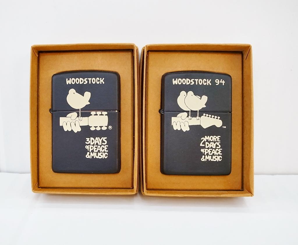 zippo (ジッポ) WOODSTOCK '94 二個セット カラ―:ブラック【中古】【ZIPPO】【鈴鹿 併売品】【1464409OS】