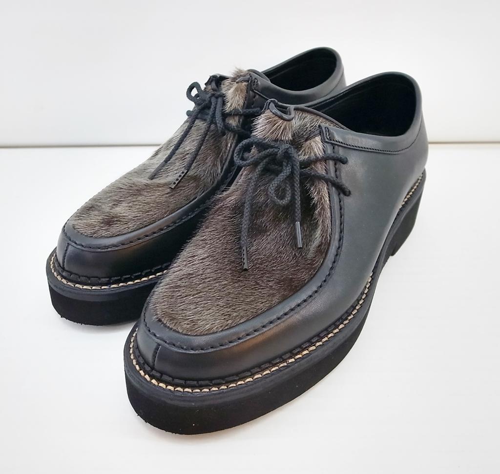 uniform experiment (ユニフォームエクスペリメント) SEAL FUR MOCCASIN SHOES UE-156135 サイズ:41 (26cm) カラー:ブラック【中古】【その他靴】【鈴鹿 併売品】【1404589OS】