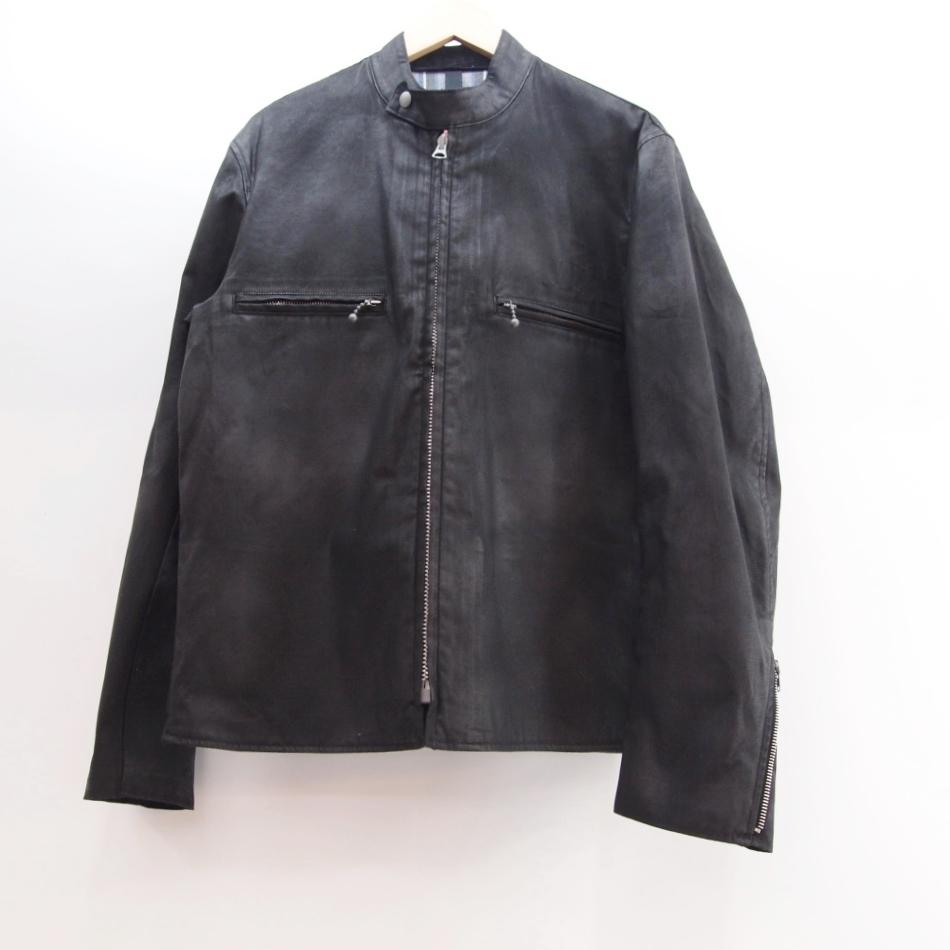 ADDICT CLOTHES (アディクトクローズ) シングル オイルド ライダースジャケット サイズ:40 カラー:ブラック【中古】【アメカジ】【鈴鹿 併売品】【128-171129-01OS】