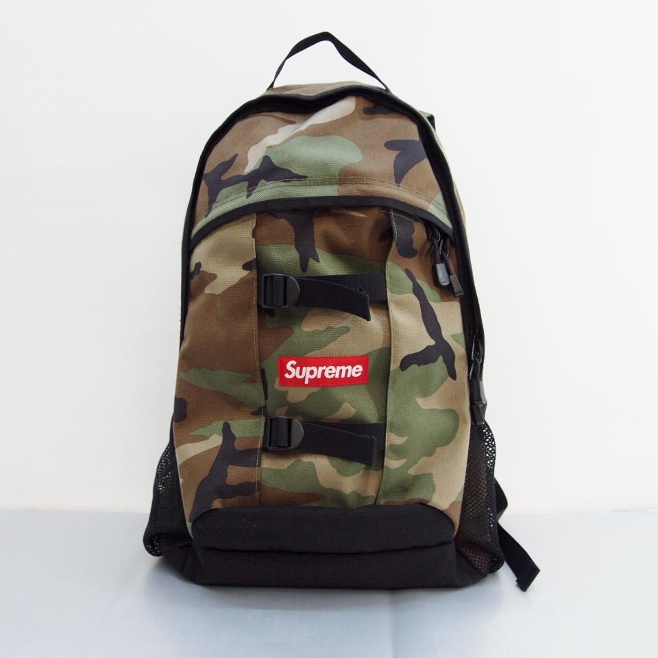 Supreme (シュプリーム) Back Pack バックパック カラー:カーキ【中古】【カバン】【鈴鹿 併売品】【137-180207-02OS】