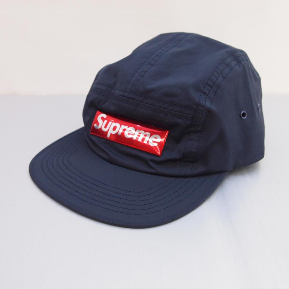 Supreme (シュプリーム) Liquid Metal Logo Camp Cap カラー:ネイビー【中古】【その他帽子】【鈴鹿 併売品】【136-180622-06OS】