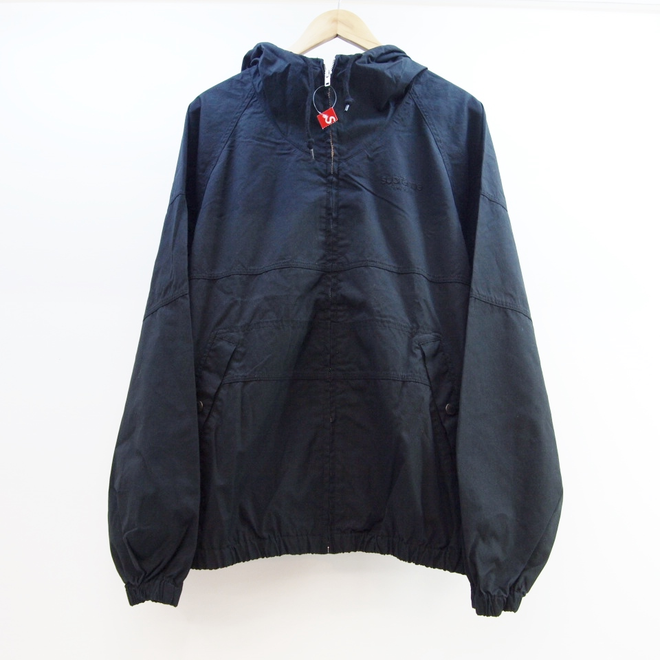 Supreme (シュプリーム) Cotton Hooded Raglan Jacket サイズ:M カラー:ブラック【中古】【ストリート】【鈴鹿 併売品】【126-180628-02OS】