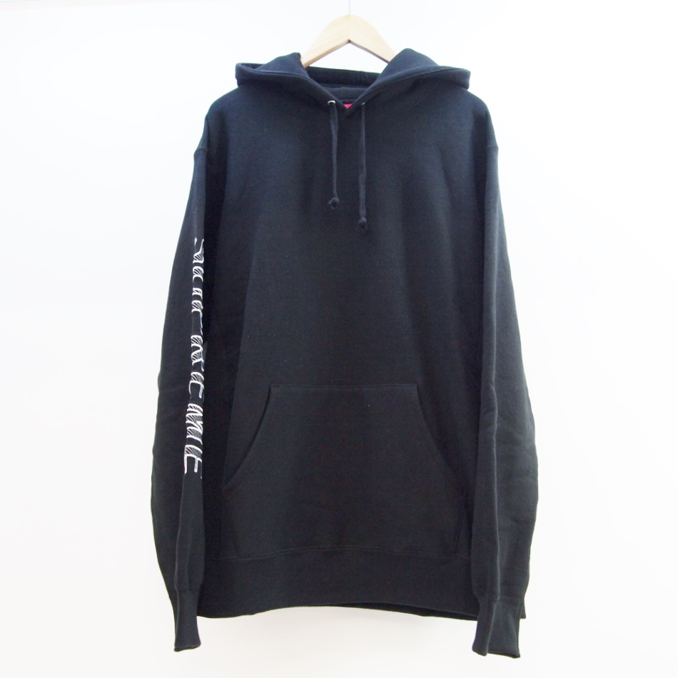 Supreme (シュプリーム) Sleeve Embroidery Hooded Sweatshirt サイズ:L カラー:ブラック【中古】【ストリート】【鈴鹿 併売品】【126-180824-07OS】