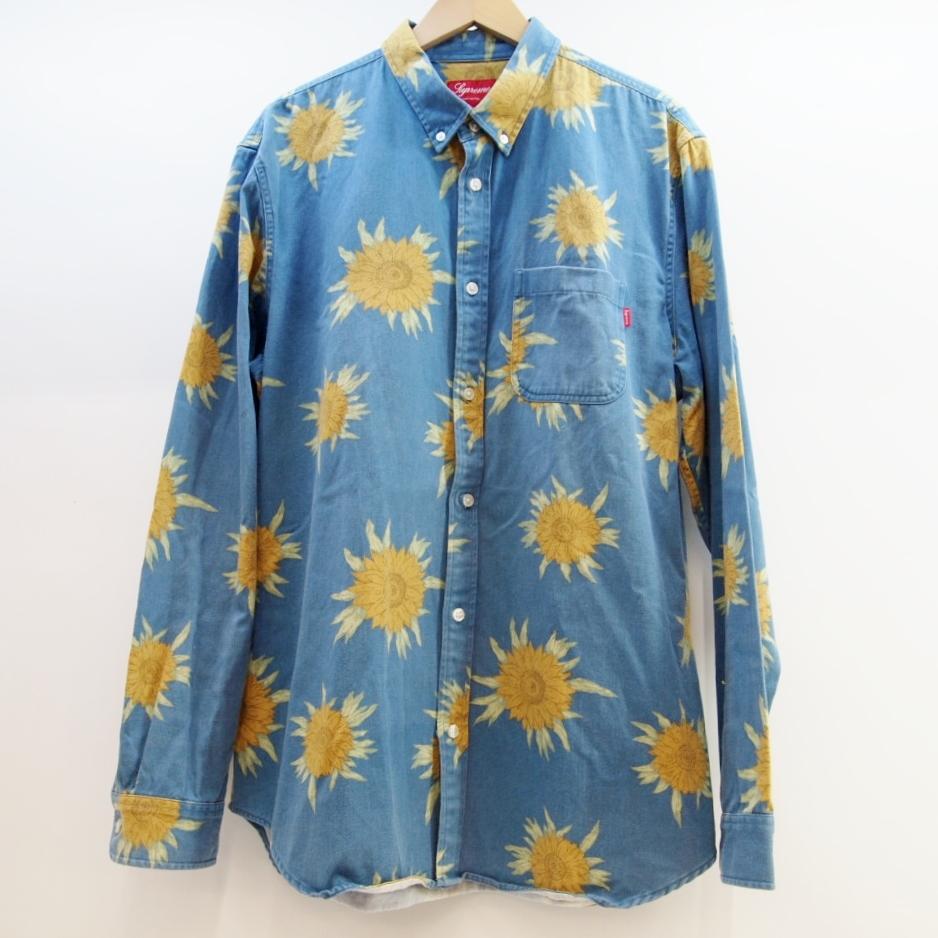 【即納&大特価】 Supreme (シュプリーム) Sunflower Shirt サイズ:XL カラー:ブルー【】【ストリート】【鈴鹿 併売品】【126-180829-04OS】, 大根占町 cfbcfae4