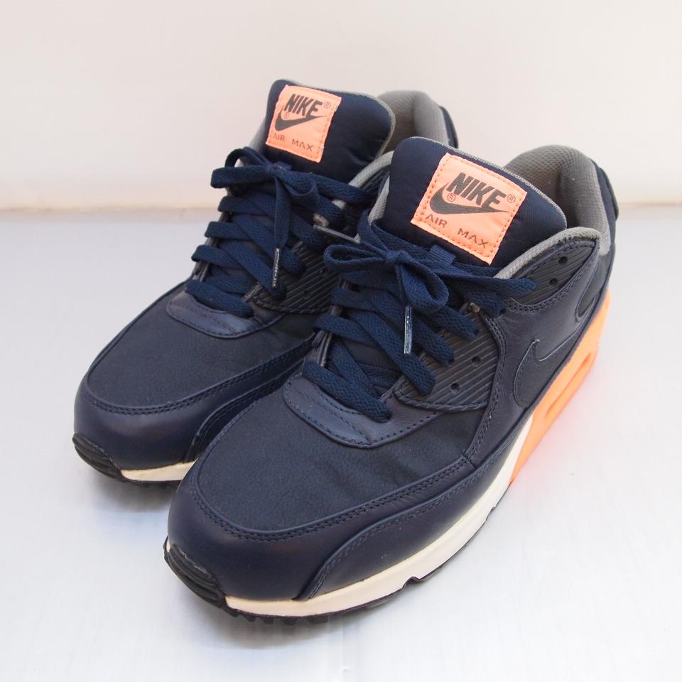 reputable site c00c5 2af80 NIKE (Nike) AIR MAX 90 PREMIUM Air Max 90 premium size: A 10.5 (28.5cm)  color: Navy orange