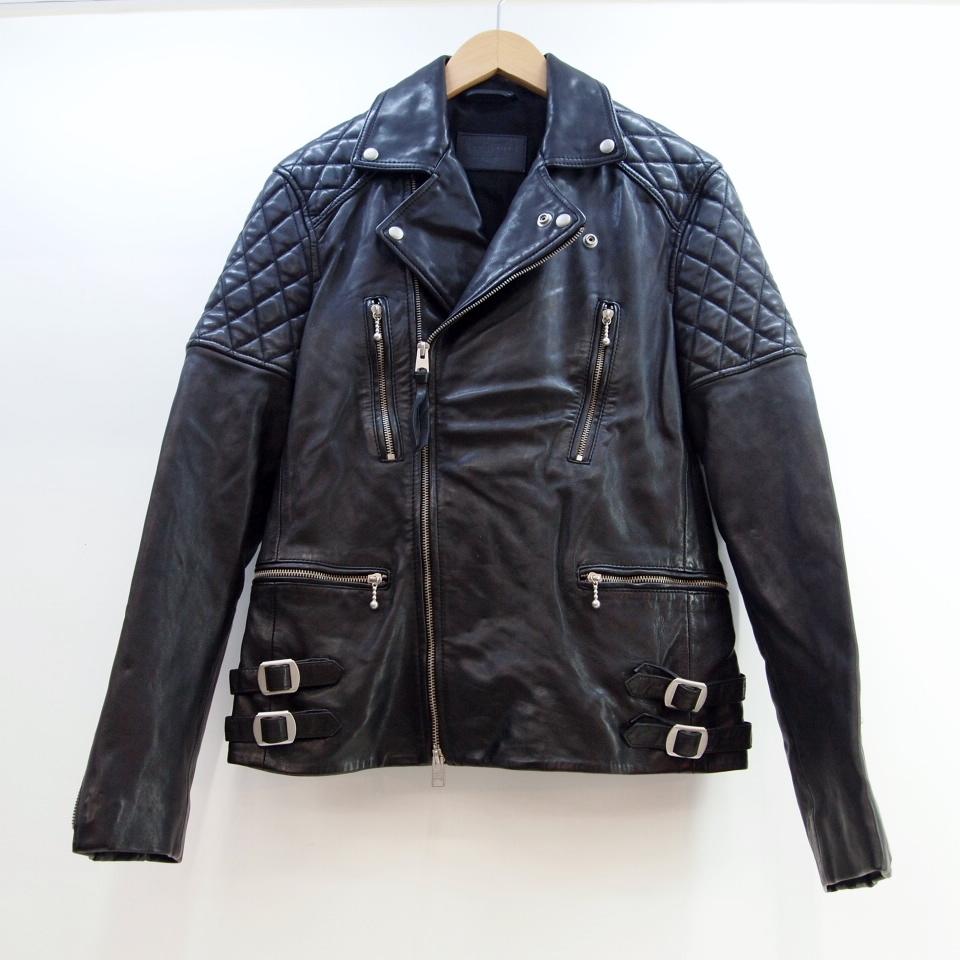 ALLSAINTS (オールセインツ) Yuku Leather Biker Jacket ラムレザー ライダースジャケット サイズ:XS カラー:ブラック【中古】【インポート】【鈴鹿 併売品】【122-180914-04OS】