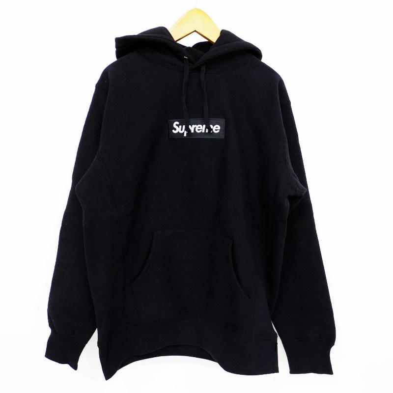 16AW Supreme シュプリーム Box Logo Hooded Sweatshirt ボックスロゴプルオーバーパーカー サイズ:L カラー:ブラック【中古】【ストリート】【鈴鹿 併売品】【126-180302-02BS】