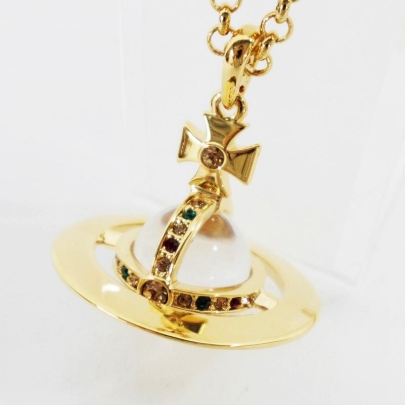Vivienne Westwood ヴィヴィアン ウエストウッド ネックレス NEW SMALL ORB スモールオーブペンダント ゴールド 【中古】【その他アクセ】【鈴鹿 併売品】【147-180521-05BS】