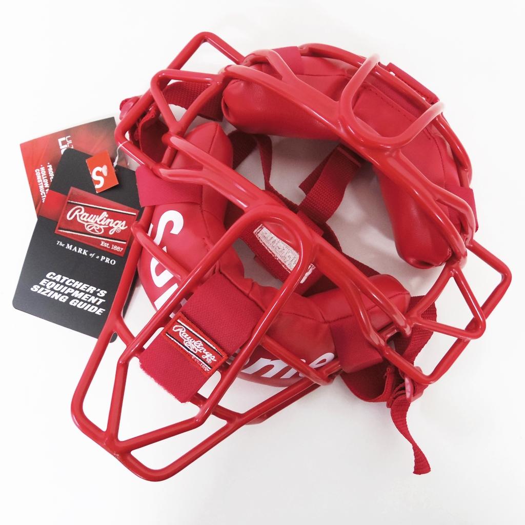 Supreme(シュプリーム) Rawlings Catchers Mask (キャッチャーマスク) カラー:レッド【中古】【その他アクセ】【鈴鹿 併売品】【147-180906-04AS】