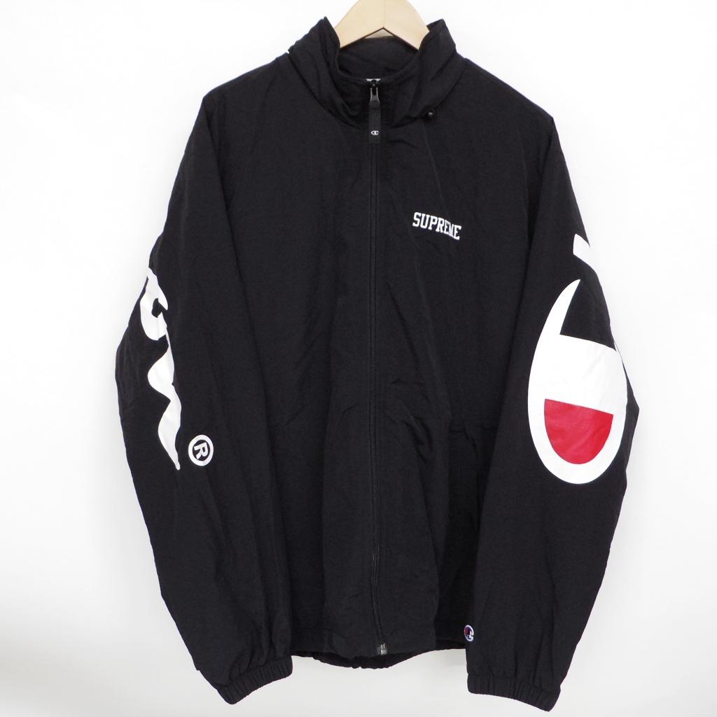 Supreme(シュプリーム)×Champion(チャンピオン) Track Jacket トラックジャケット サイズ:L カラー:ブラック【中古】【ストリート】【鈴鹿 併売品】【126-181016-03AS】