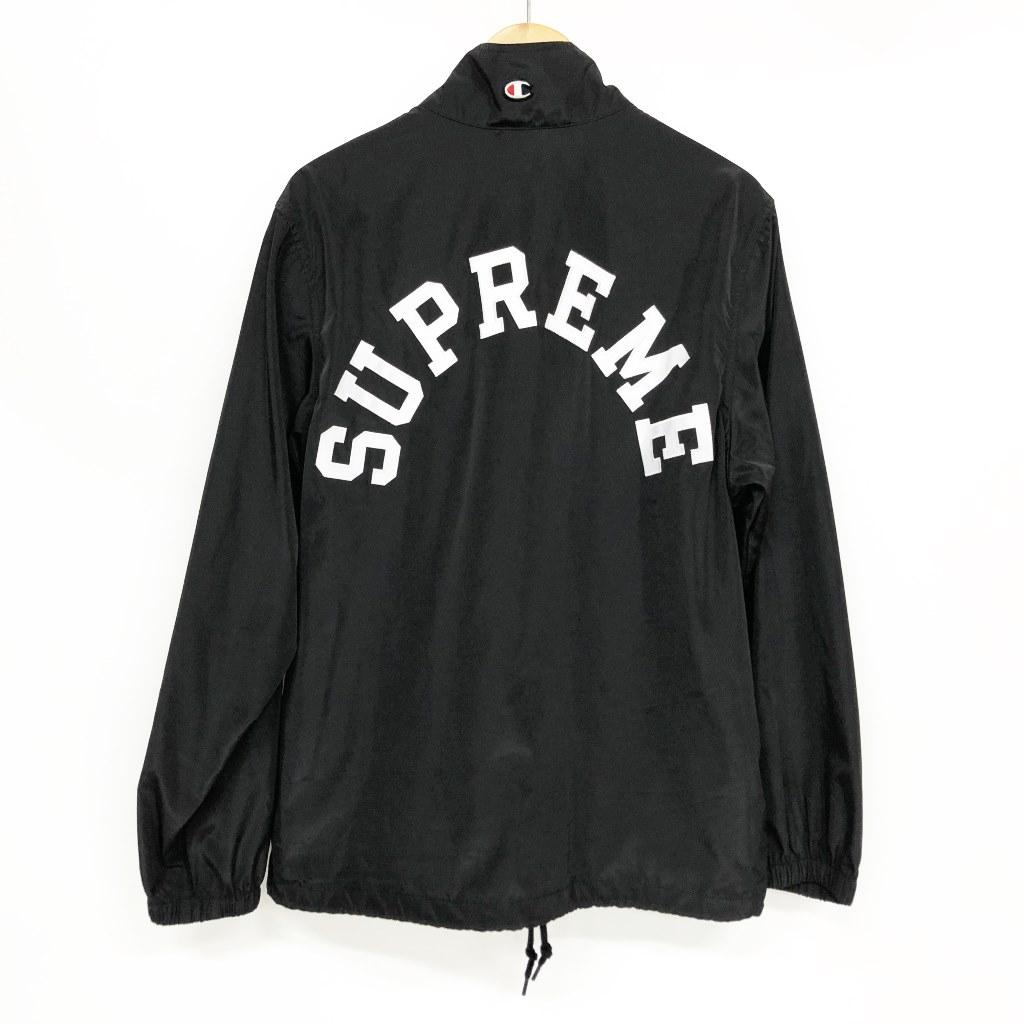 SUPREME × Champion Half Zip Pullover サイズ:S カラー:ブラック【中古】【ストリート】【鈴鹿 併売品】【126-200404-01BS】