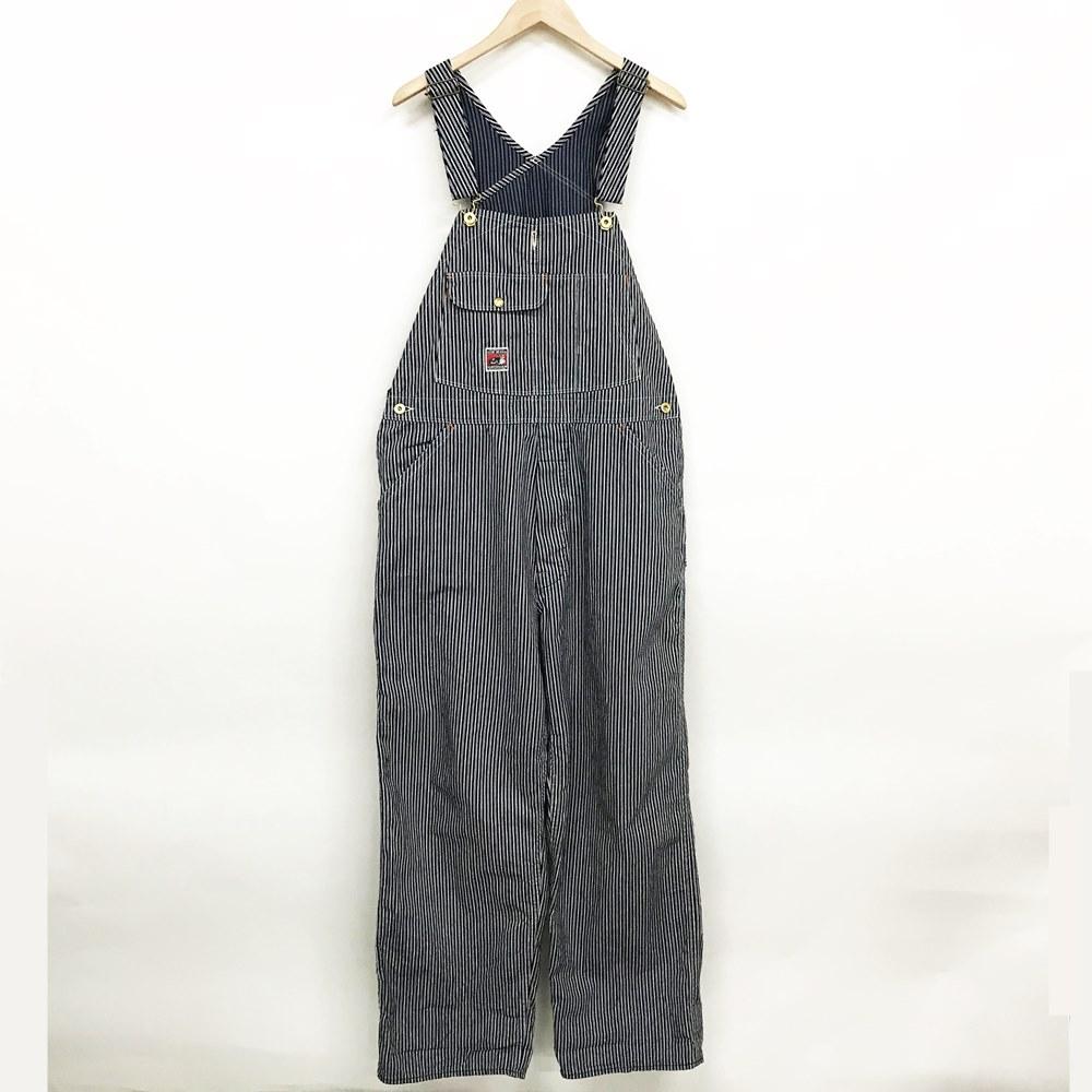 TCB jeans TCBジーンズ ヒッコリーストライプ オーバーオール カラー:ブルー×ホワイト【中古】【128 アメカジ】【鈴鹿 併売品】【128-200605-03LS】