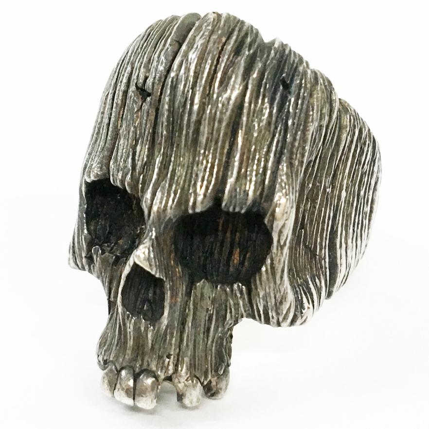 送料無料 M 人気上昇中 Bros. スカルリング 新作通販 Driftwood skull サイズ:16号 カラー:シルバー ブランドアクセ 鈴鹿 144-201031-04BS 併売品 中古