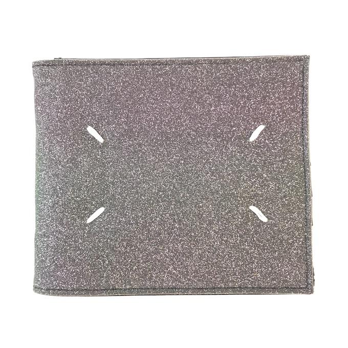 Maison Margiela 11 Glitter Bi-Fold Wallet メゾンマルジェラ 二つ折り 財布 ウォレット グリッター ラメ コインレス ステッチ s35ui0384 s11390 col.900【中古】【財布】【四日市 併売品】【138-190913-03mH】