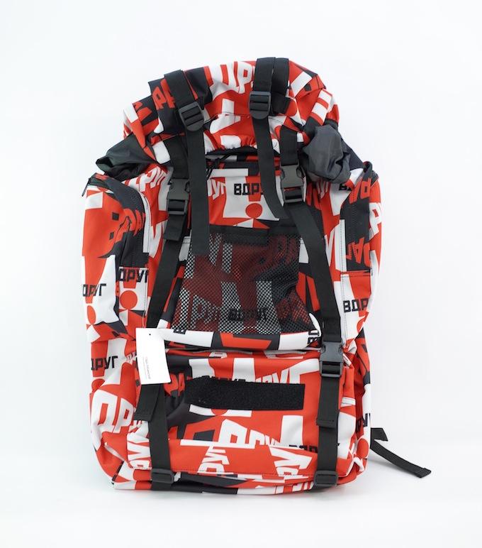 Gosha Rubchinskiy(ゴーシャラブチンスキー) Medium Graphic Backpack RED バックパック【中古】【カバン】【四日市 併売品】【137-180726-01hmaH】