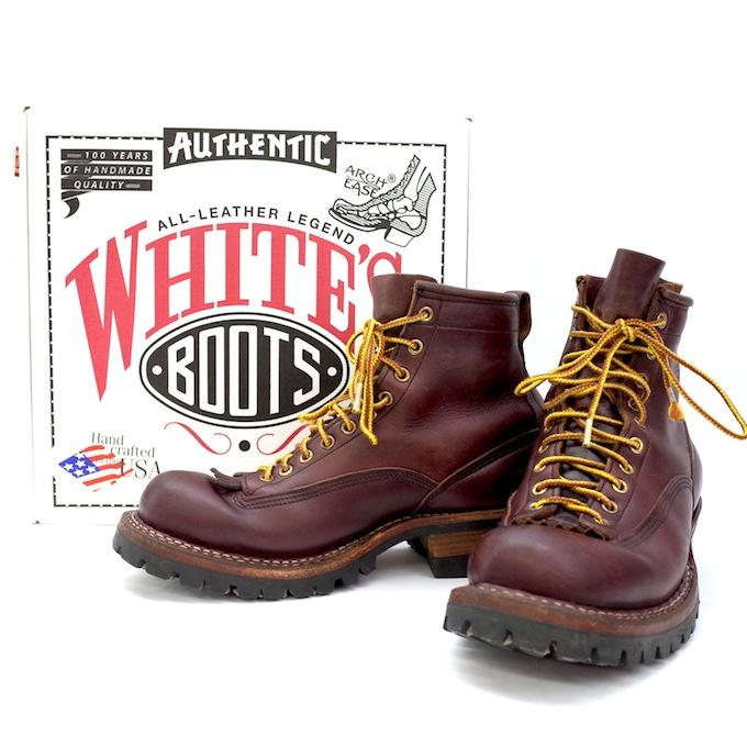WHITE'S BOOTS/ホワイツブーツ 6 SMOKE JUMPER 350VLTT スモークジャンパー 【表記サイズ:10D】【約28.0cm】ドレスブラウン【中古】【その他靴】【四日市 併売品】【140-180820-01mH】