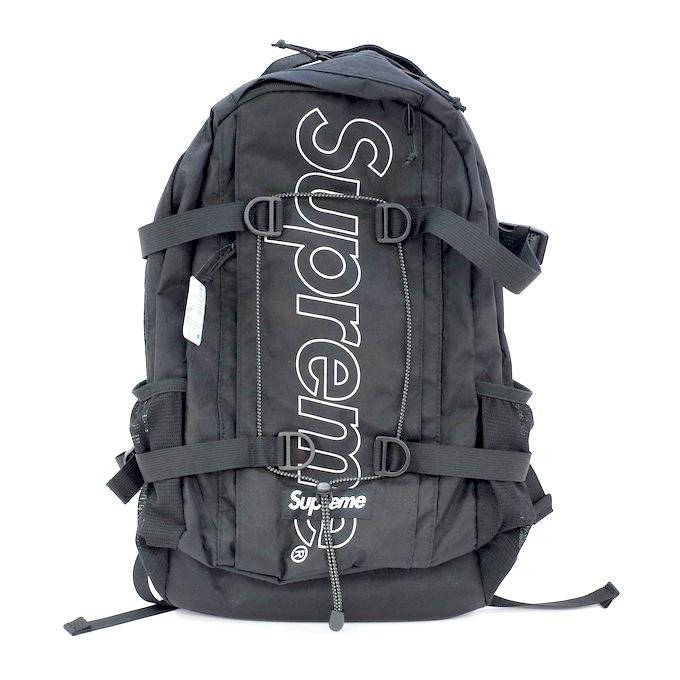 Supreme シュプリーム 18AW Backpack シュプリーム バックパック リュック ブラック 黒【中古】【カバン】【四日市 併売品】【137-180910-01mH】