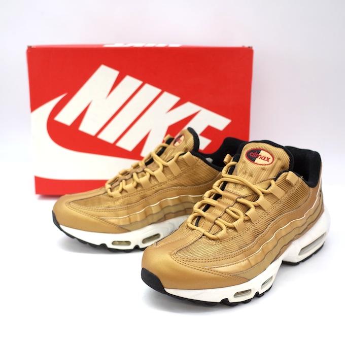 official photos 9d93a 90d51 NIKE Nike AIR MAX 95 PREMIUM QS Kie Ney AMAX 95 premium 918,359-700 GOLD  gold gold