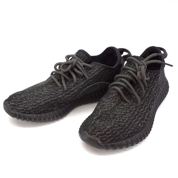 adidas Originals by KANYE WEST アディダス オリジナルス カニエ・ウエスト 【27.5cm】YEEZY BOOST 350 AQ2659 イージーブースト BLACK ブラック 黒 スニーカー【中古】【スニーカー】【四日市 併売品】【139-181017-02mH】