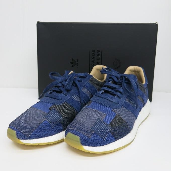 adidas Consortium Sneaker Exchange ENDxBodega Iniki Runner アディダス コンソーシアム スニーカー エクスチェンジ エンド クロッシング/ボデガ イニキ ランナー BY2104 ブルー 28.5cm【中古】【スニーカー】【四日市 併売品】【139-170820-01USH】