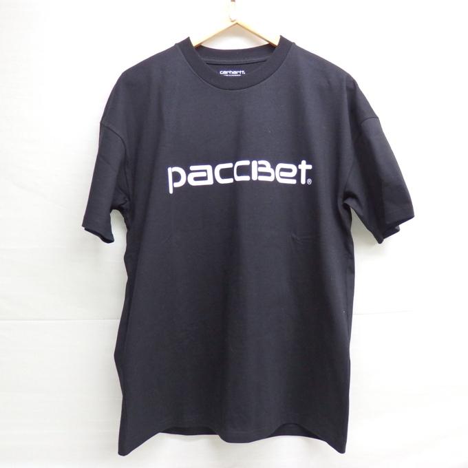 CARHARTT X PACCBET LOGO T-SHIRT カーハート×ラスベート ロゴ T ブラック サイズ:S【中古】【ストリート】【四日市 併売品】【126-180307-05USH】