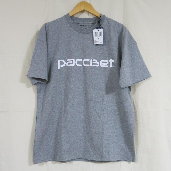 Paccbet × Carhartt Logo T ラスベート×カーハート ロゴT グレー サイズ:S【中古】【ストリート】【四日市 併売品】【126-180319-04USH】