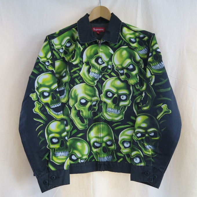 Supreme 18SS Skull Pile Work Jacket シュプリーム スカル パイル ワークジャケット ブラック サイズ:S【中古】【ストリート】【四日市 併売品】【126-180402-04USH】