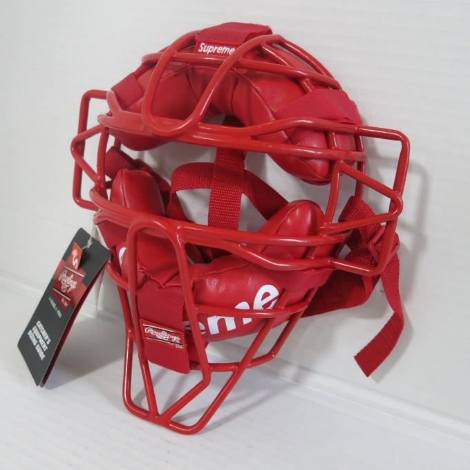 Supreme×Rawlings 18SS Catcher's Mask シュプリーム×ローリングス キャッチャーマスク レッド【中古】【その他アクセ】【四日市 併売品】【147-180507-01USH】