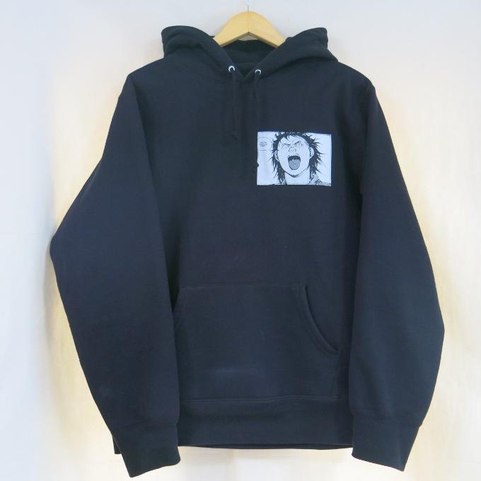 Supreme×AKIRA 17AW Patches Hooded Sweatshirts シュプリーム×アキラ パッチーズ フーデッド スウェットシャツ ブラック サイズ:M【中古】【ストリート】【四日市 併売品】【126-180511-09USH】