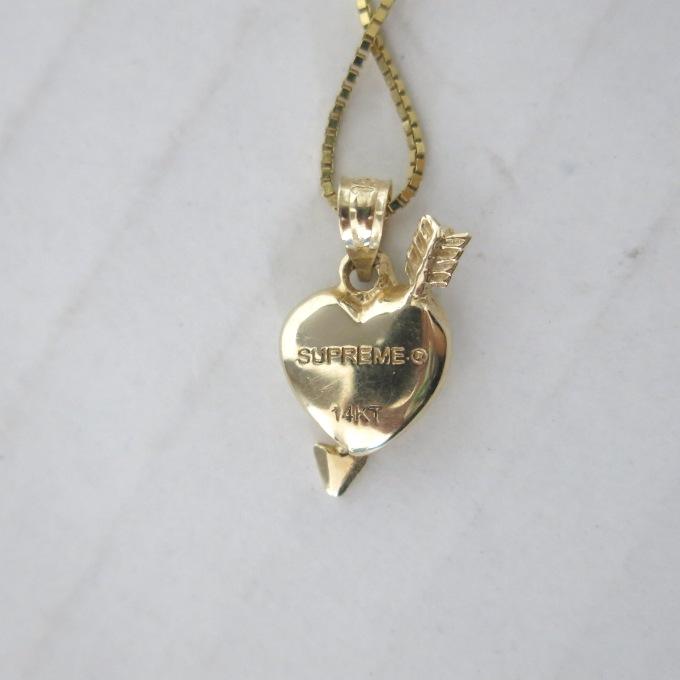 Supreme 17SS Gold Heart And Arrow Pendant 14K シュプリーム ゴールド ハート アンド アロー ペンダント 14金 ゴールド K14 ストリート四日市 併売品126 180621 14USHhCdtrsQx