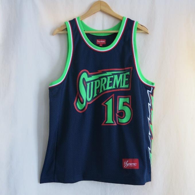 Supreme 18SS Bolt Basketball Jersey シュプリーム ボルト バスケットボール ジャージー ネイビー/ブラック サイズ:M【中古】【ストリート】【四日市 併売品】【126-180625-08USH】