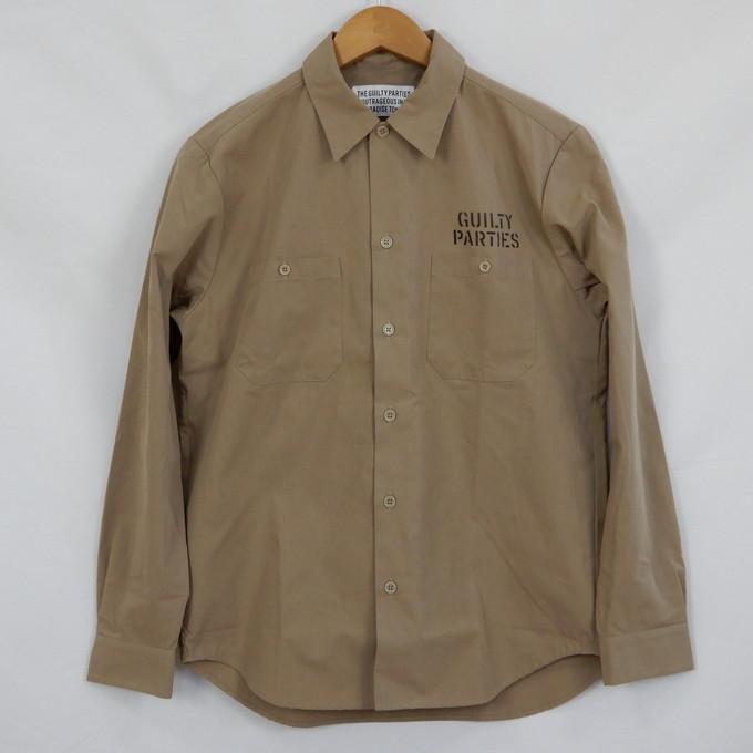 WACKO MARIA WORK SHIRT TYPE 3 ワコマリア ワークシャツ Sサイズ/ベージュ【中古】【ルード】【四日市 併売品】【127-190224-03CH】