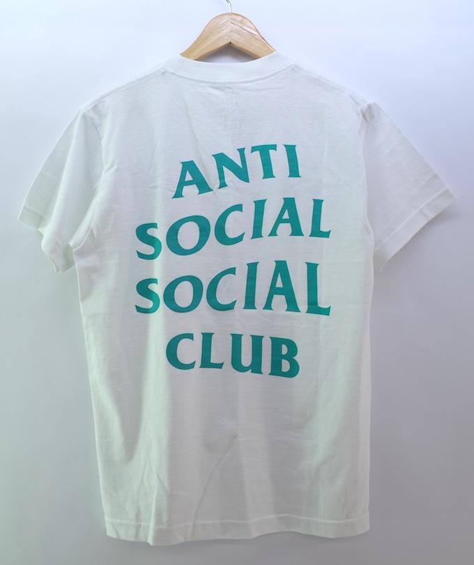 ANTI SOCIAL SOCIAL CLUB ASSC CRITICAL WHITE TEE アンチソーシャルソーシャルクラブ Tシャツ Sサイズ/ホワイト/グリーン【中古】【ストリート】【四日市 併売品】【126-180723-03ahH】