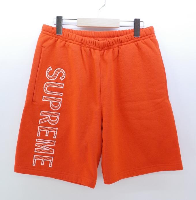 Supreme leg embroidery sweat shorts シュプリーム スウェットショーツ サイズ:S/オレンジ/ホワイト【中古】【ストリート】【四日市 併売品】【126-180730-06ahH】