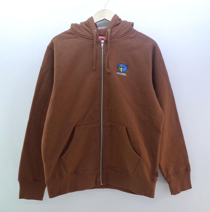 Supreme 17aw Gonz Ramm Zip Up Sweatshirt シュプリーム ゴンズ ジップアップスウェット サイズ:M/ブラウン【中古】【ストリート】【四日市 併売品】【126-180805-03ahH】