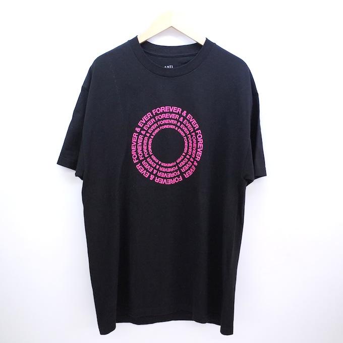 ANTI SOCIAL SOCIAL CLUB Forever And Ever Tee ASSC アンチソーシャルソーシャルクラブ Tシャツ Lサイズ/ブラック/ピンク【中古】【ストリート】【四日市 併売品】【126-180915-07CH】