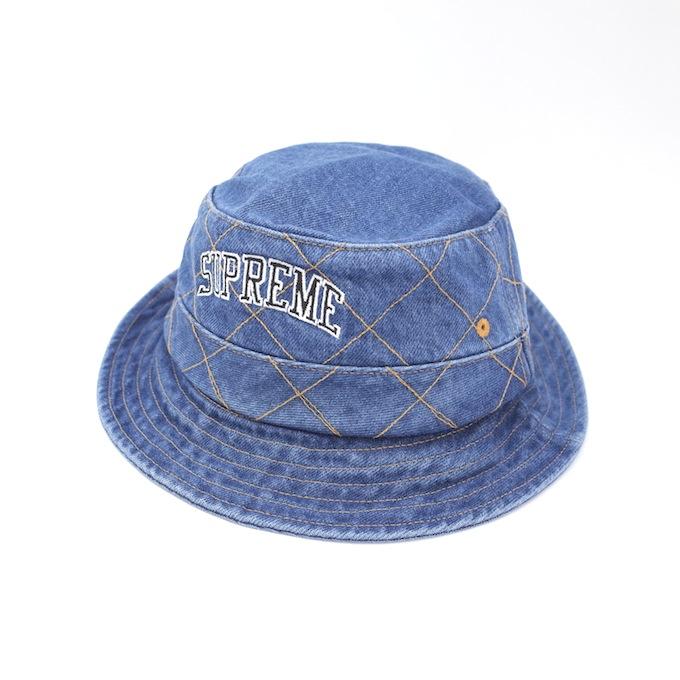 SUPREME 18AW Diamond Stitch Crusher Hat シュプリーム ダイアモンド クラッシャーハット インディゴ/デニム【中古】【その他帽子】【四日市 併売品】【136-181011-02CH】