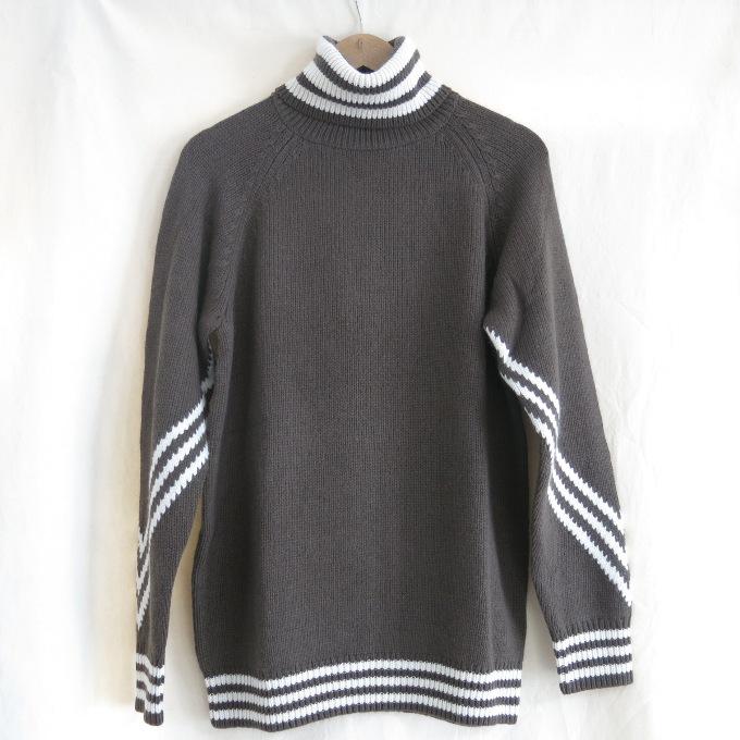 adidas Originals by White Mountaineering knit turtleneck jumper アディダスオリジナルス バイ ホワイトマウンテニアリング タートルネック ニット BQ4104 オリーブ/ベージュ サイズ:M【中古】【DM】【四日市 併売品】【125-181001-17USH】