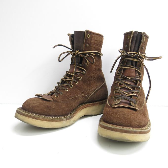 WHITE'S BOOTS(ホワイツ ブーツ) レースアップ ブーツ カスタム ブラウン サイズ:9E(27cm)【中古】【その他靴】【四日市 併売品】【140-181002-01USH】